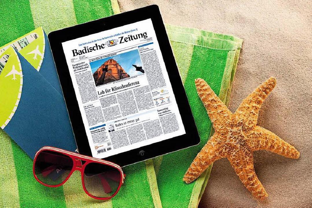 Die BZ am Strand? Das geht!  | Foto: Badische Zeitung
