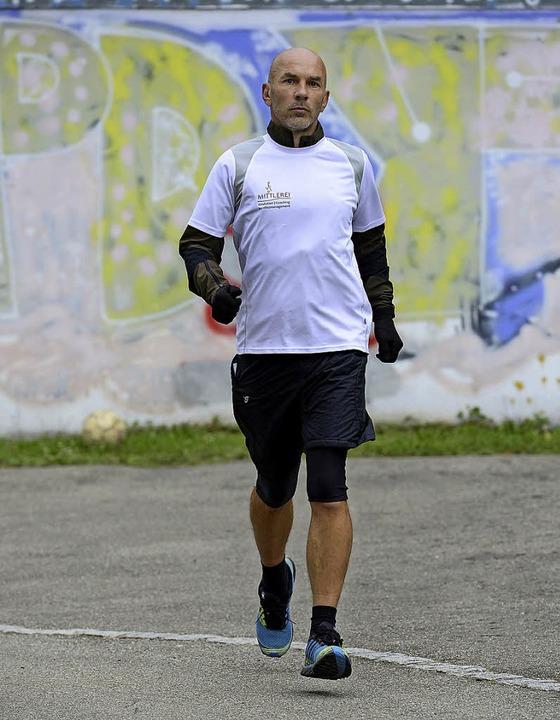 Hendrik Fenz beim Training  | Foto: Ingo Schneider