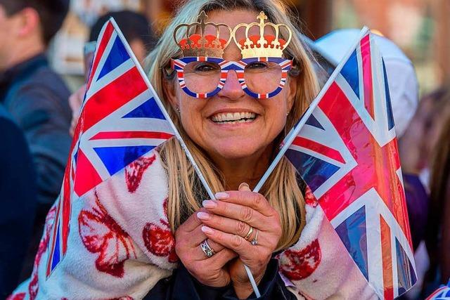Fans der Royal Wedding von Prinz Harry und Meghan Markle