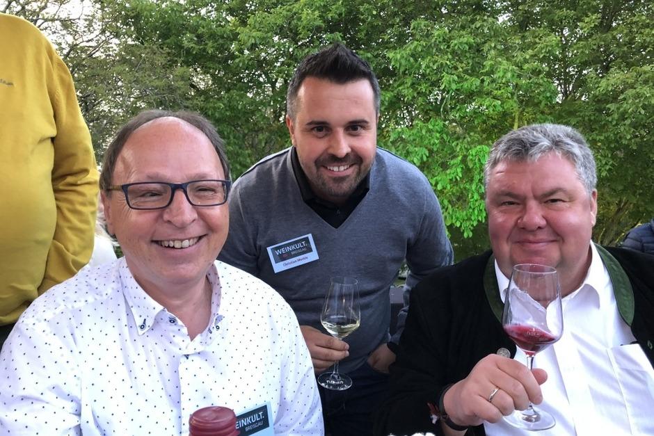 BZ-Redakteur Gerold Zink, Regionalverlagsleiter Christian Merkle und BZ-Verleger Christian Hodeige. (Foto: Markus Fangmann)