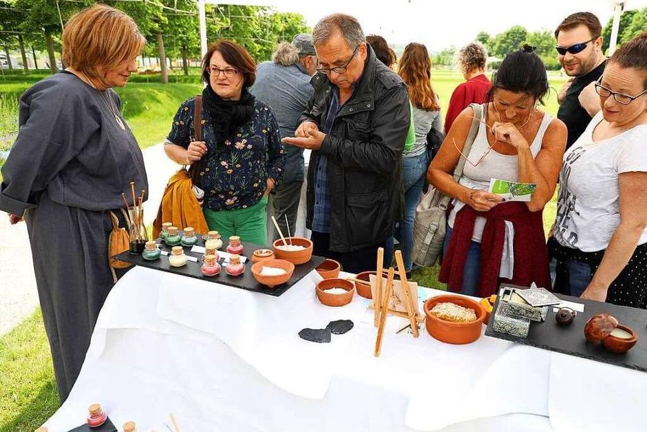 Musik, Theater, römische Köstlichkeiten und typische Handwerkskunst konnten die Besucher am Samstag auf der LGS erleben. (Foto: Christoph Breithaupt)