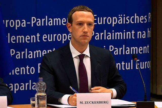 Facebook-Chef Zuckerberg vor EU-Parlamentariern: Mit der Routine eines Politprofis