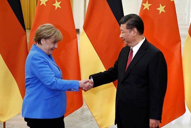 Kanzlerin Merkel zu Besuch in China
