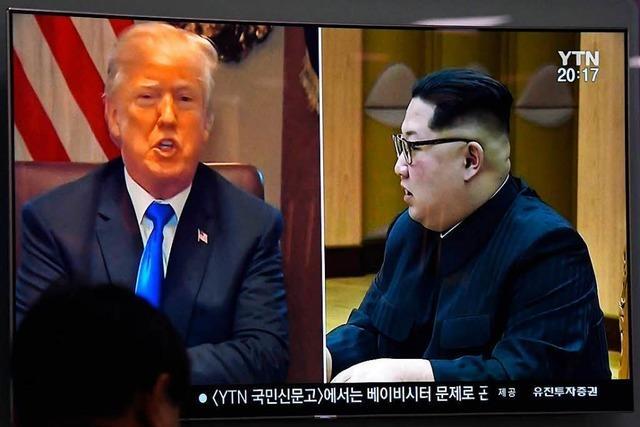 Trump sagt Gipfel mit Nordkoreas Machthaber Kim ab