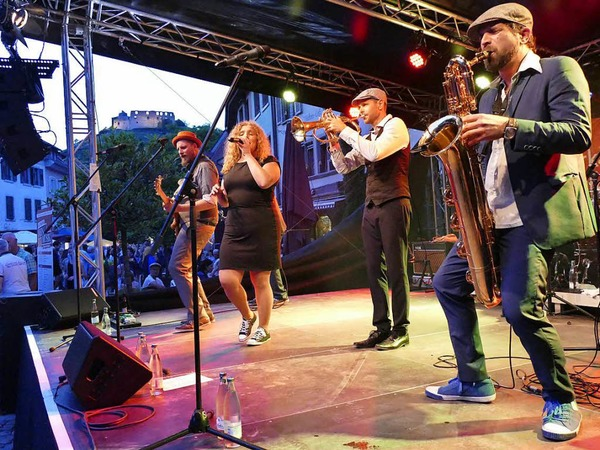 The Nutty Boys feat. Anja Lehmann (Freitag, 21 Uhr, Kronenplatz)
