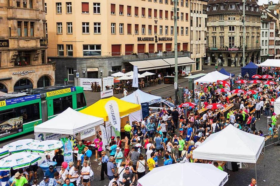 Szene vom Dreiländerlauf 2018 (Foto: Jonas Schwarzwälder)