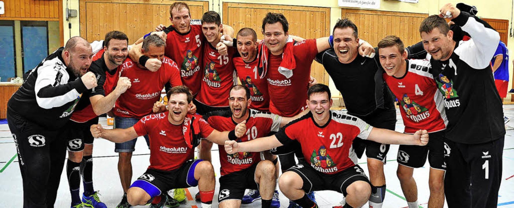 Ende gut, alles gut: Die Handballer de...eg in der Relegation gegen Kenzingen.   | Foto: Achim Keller