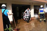 Starkregen überschwemmt Keller und Gärten in Teilen von Hofweier