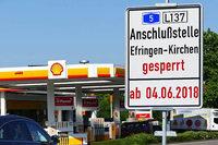 Anschlussstelle Efringen-Kirchen auf der A5 wird im Juni gesperrt