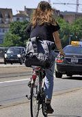 Mehr Fahrräder und weniger Autos auf Stadtstraßen