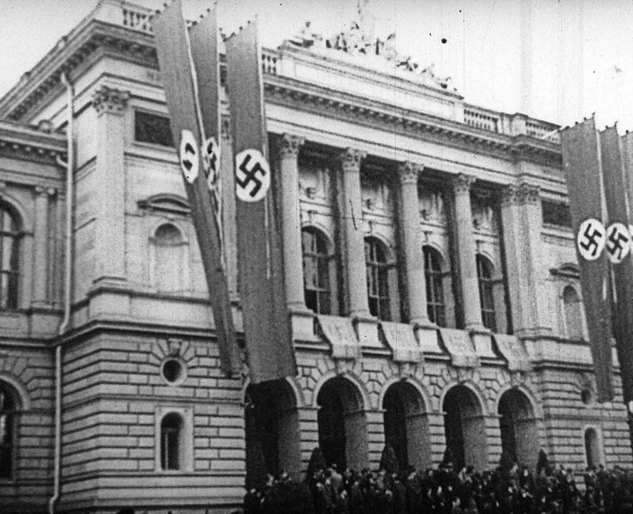 Hakenkreuze an der Reichsuniversität Straßburg  | Foto: SWR/Bundesarchiv Berlin
