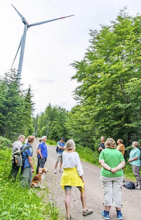 Etwa 20 Interessierte waren zum Windra...der Bürgerenergie Ettenheim gekommen.   | Foto: Olaf Michel