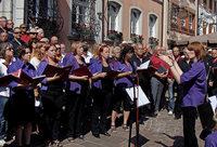 Der Hochrhein singt. Chor-Veranstaltung in der Innenstadt von Bad Säckingen am 9.6.18