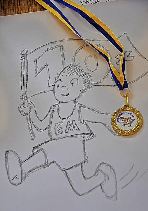 Bernd Kellner hat das Motiv für die Jubiläums- Medaille entworfen.  | Foto: Gerhard Walser