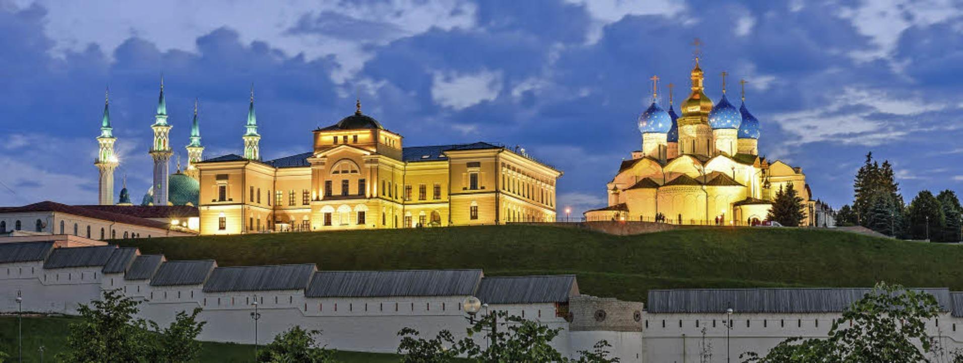 Kasan: Prächtige Architektur zeigt das Miteinander der Kulturen.   | Foto: R. Andrei/Aleksey Sudakov (stock.adobe.com)