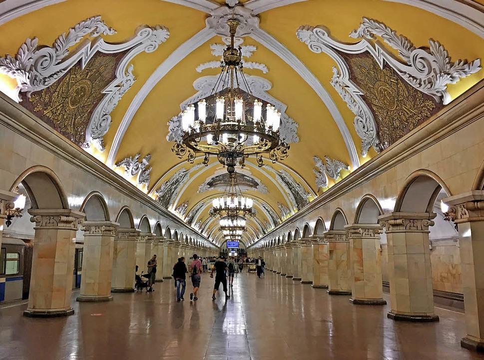Unterirdisch: Die Metro  mit ihren  Hallen ist eine Sehenswürdigkeit.  | Foto: Friedemann Kohler
