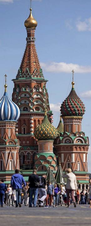Märchenhaft: Die Basiliuskathedrale ist ein Wahrzeichen Moskaus.  | Foto: Marius Becker