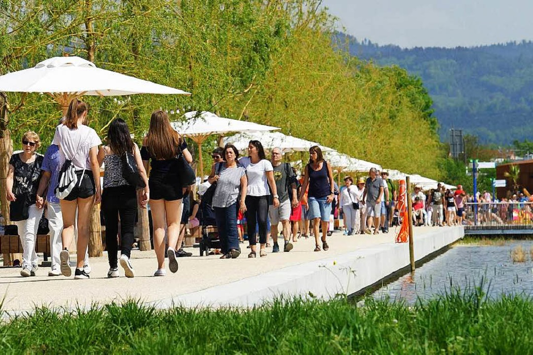 Viel Grün, Blühendes und Wasser bietet die Landesgartenschau in Lahr.  | Foto: LGS