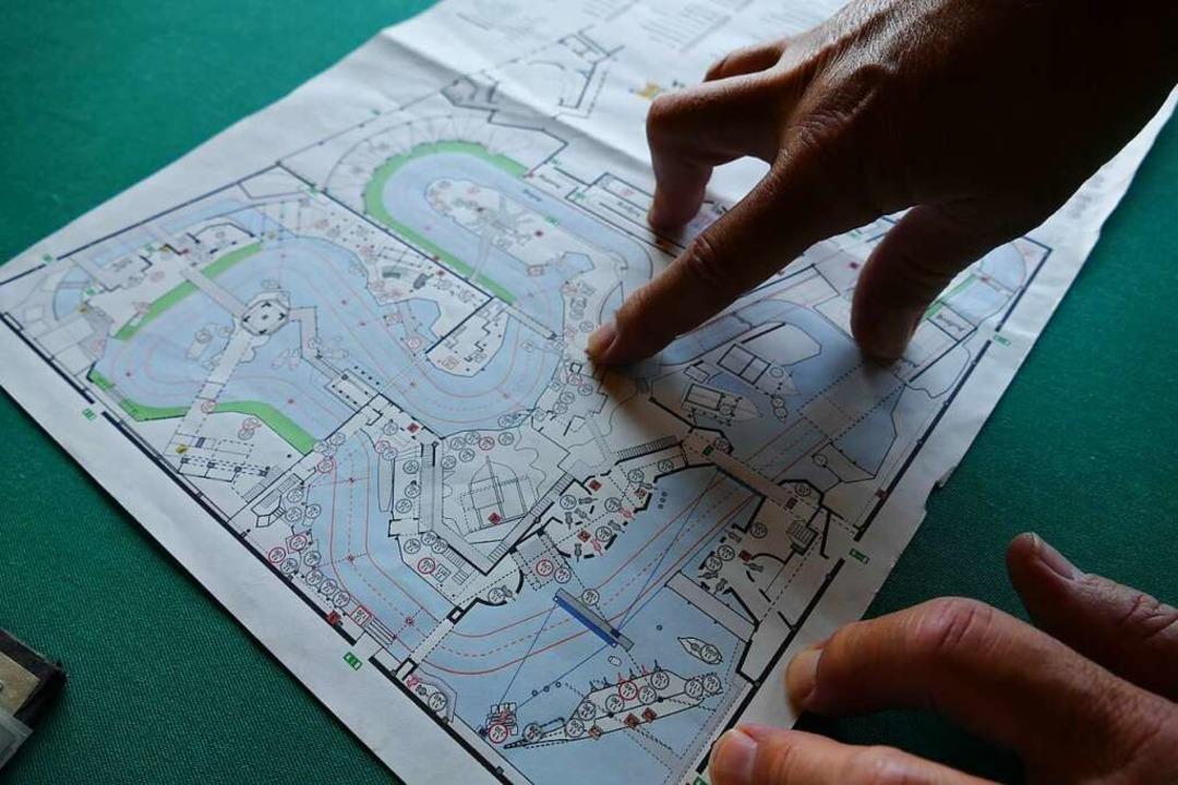 Ein alter Plan der Piraten-Bahn  | Foto: Tamara Keller