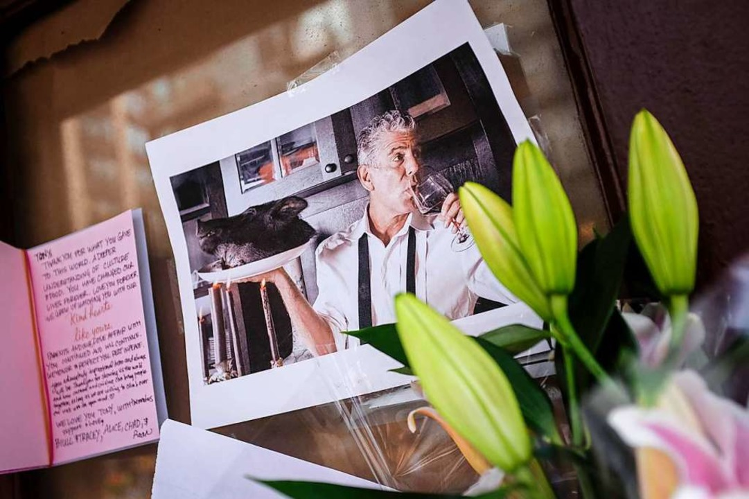 Trauer um Anthony Bourdain    Foto: AFP