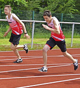 Rennen, springen und stoßen in Eisenbach