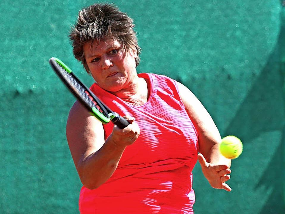 Mit explosivem Spiel zu ihrem ersten Saisonsieg im Einzel: Susanne Eberhardt   | Foto: Uwe Rogowski
