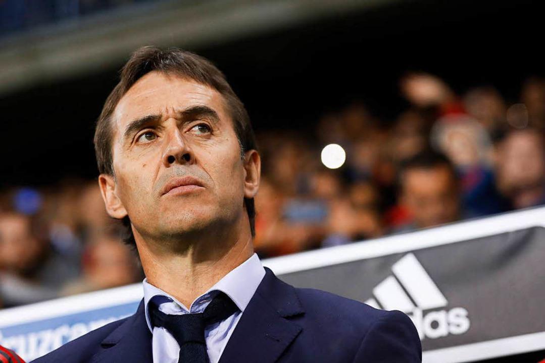 Nicht mehr Nationaltrainer der Spanier: Julen Lopetegui  | Foto: dpa