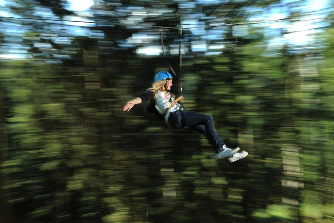Die Hirschgrund Zipline-Area in Wolfac...ie längste Natur-Zipline Deutschlands.  | Foto: Hirschgrund-Zipline-Area Schwarzwald