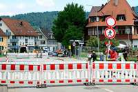 Der Bahnübergang an der Lindenmattenstraße ist bis September dicht