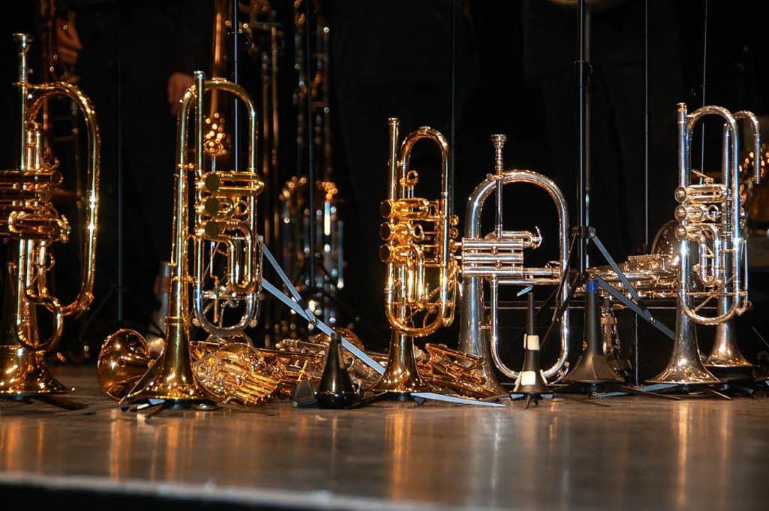 Eine ganze Reihe von Instrumenten sind...altershofener Musikern geklaut worden.  | Foto: Frank Kiefer