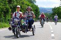 Etwa 25.000 Teilnehmer beim Slow-up am Hochrhein – zu Rad und zu Fuß