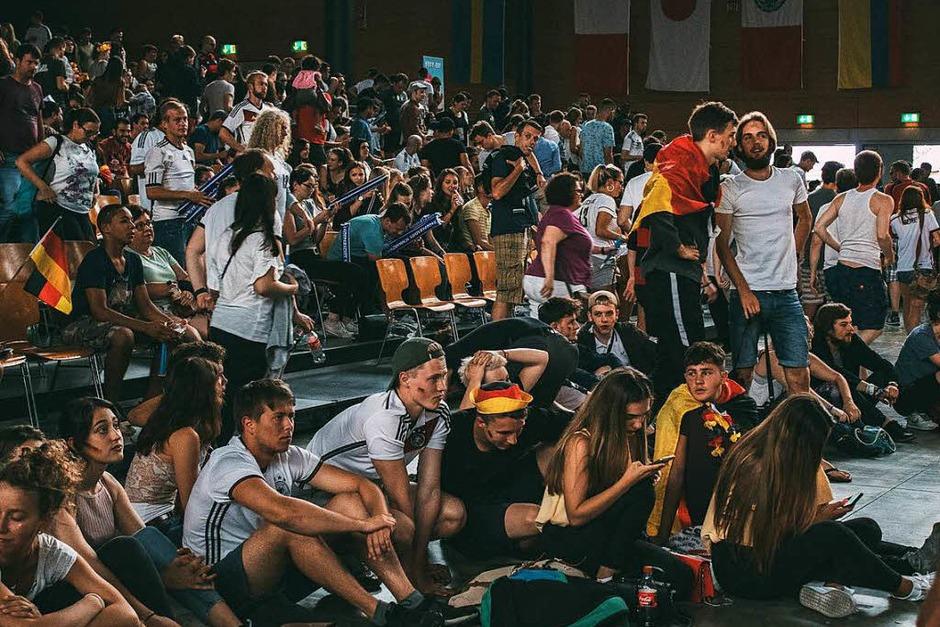 So war's beim Public Viewing in der Sick Arena. (Foto: Elham Hoxhalli)