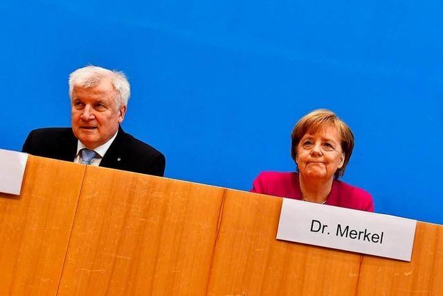 Merkel zieht im Asylstreit mit Seehofer eine rote Linie