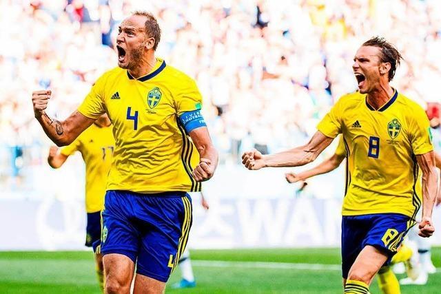 Schweden gewinnt gegen Südkorea mühsam mit 1:0