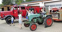 Parade der Feuerwehr-Oldies