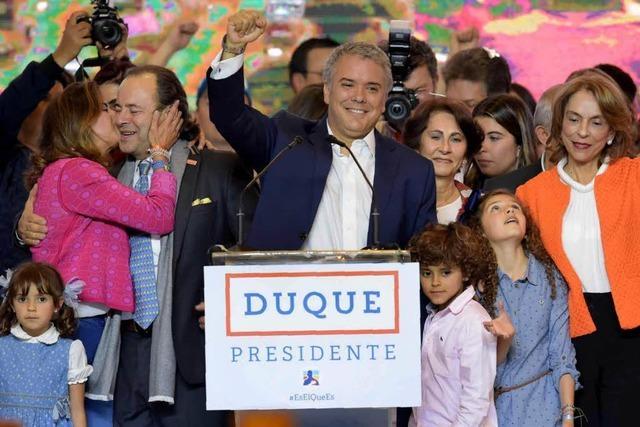 Iván Duque hat die Präsidentschaftswahl in Kolumbien gewonnen