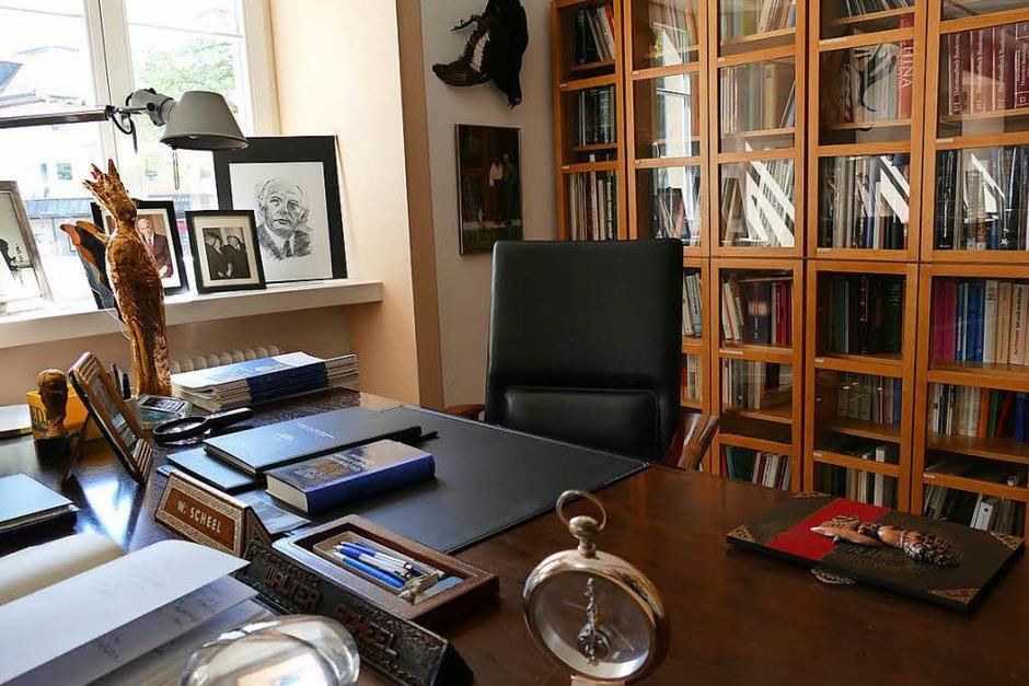 Der letzte Schreibtisch Walter Scheels (Foto: Hans-Peter Müller)