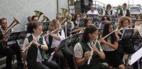 Das Wetter meinte es gut mit den Feldkircher Musikern