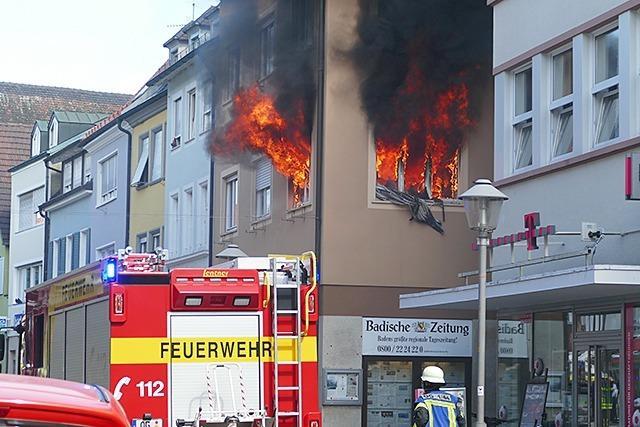 Ursache von Brand im Offenburger BZ-Haus ist noch unklar