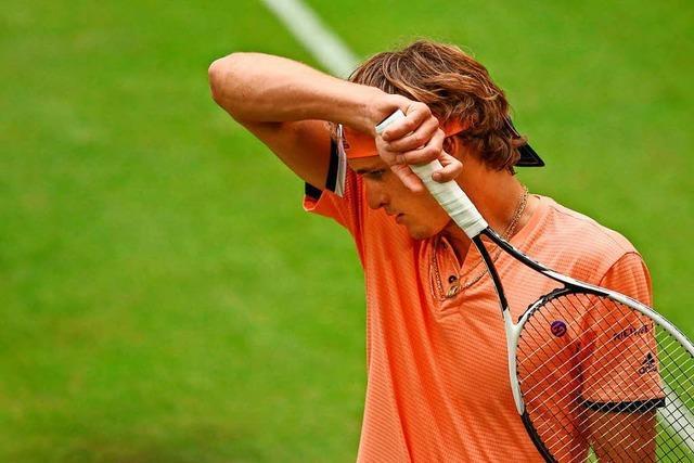Frühes Aus für den Deutschen beim Rasen-Tennisturnier in Halle