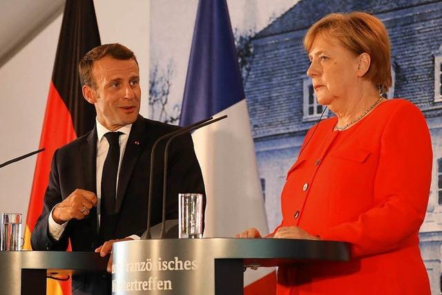 Merkel und Macron in vielem einig