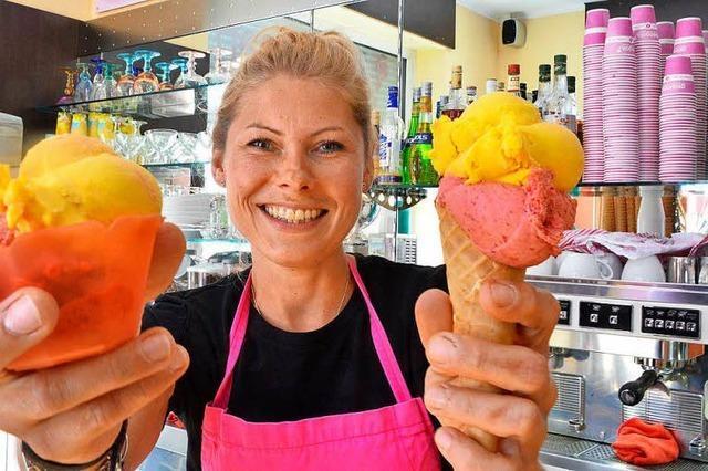Freiburger Eisdiele will Kunden zur Waffel bewegen
