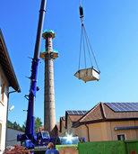 Kamin wird um zwölf Meter kürzer