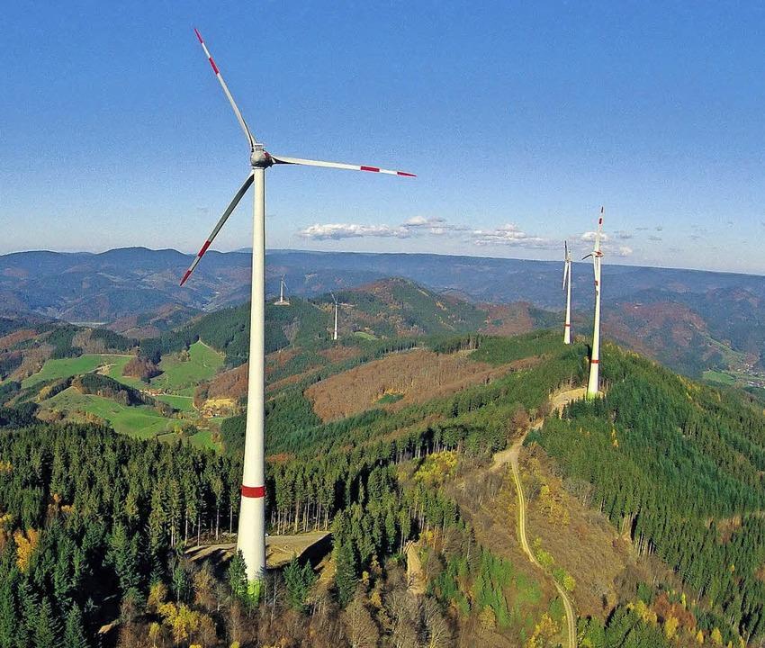 Die Windkraftanlage auf der Prechtaler Schanze     Foto: E-Werk