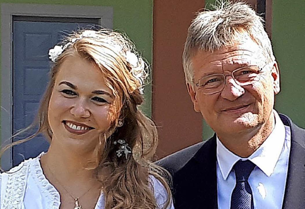 Das Ehepaar Natalia Zvekic und Jörg Meuthen     Foto: Meuthen/dpa