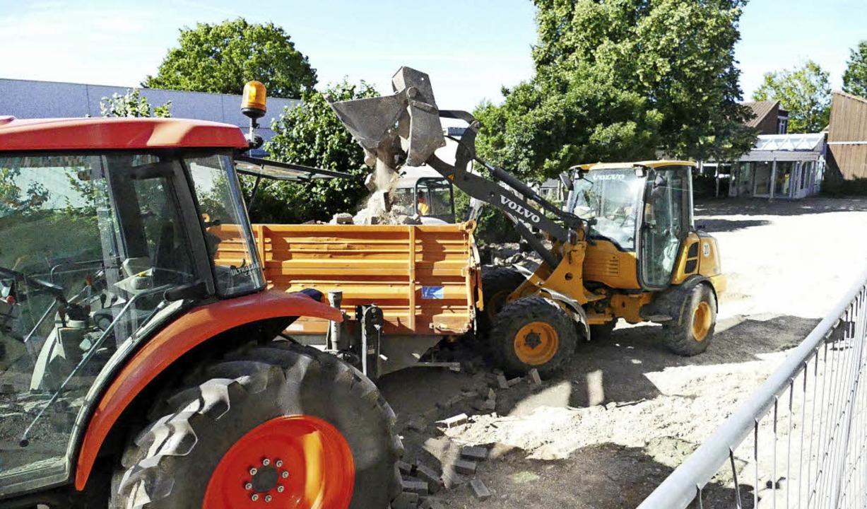 Die Schule als Baustelle – nicht...nde der Sommerferien neu zu gestalten.  | Foto: SENF