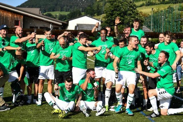 SpVgg. Untermünstertal feiert den Aufstieg in die Landesliga