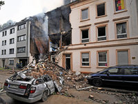 Explosion zerstört Haus