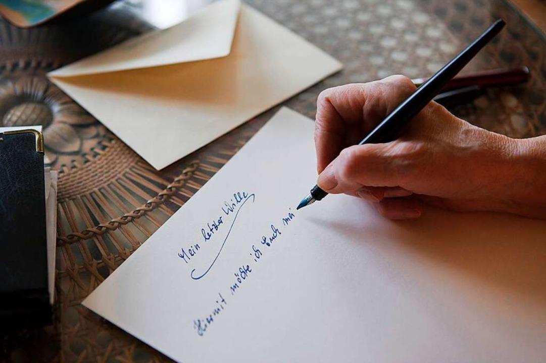 worauf man beim verfassen des testaments achten muss liebe familie badische zeitung. Black Bedroom Furniture Sets. Home Design Ideas