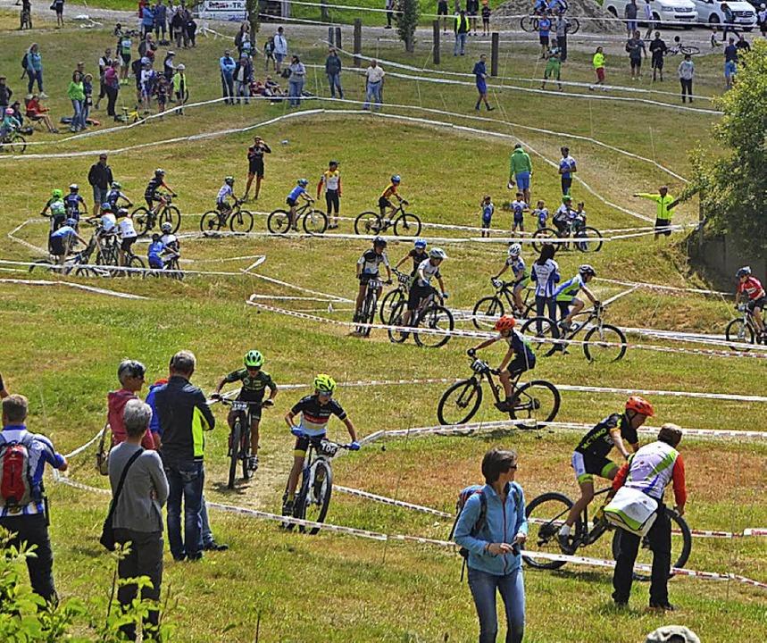 Die Nachwuchs-Mountainbiker ziehen auf...eim Schwarzwälder Kidscup ihre Kreise.  | Foto: Helmut Junkel